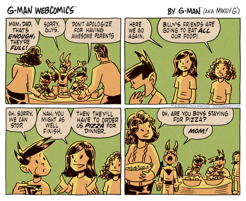 G-Man Webcomics #306: Dinner
