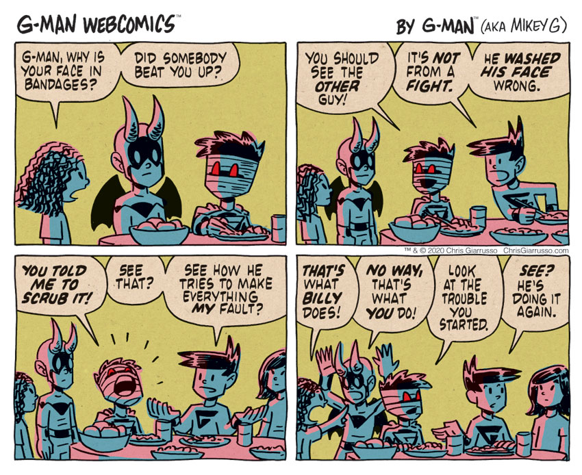 G-Man Webcomics #307: Dinner Trouble