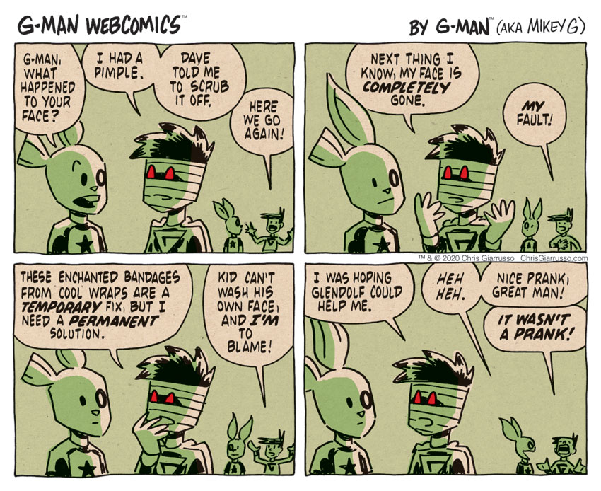 G-Man Webcomics #318: What Happened?
