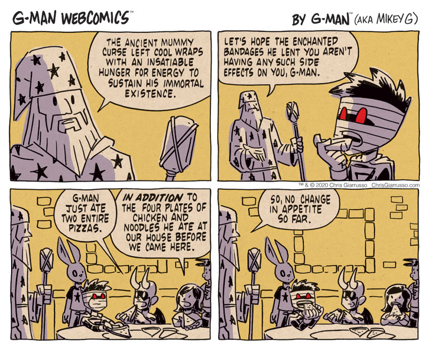 G-Man Webcomics #319: Mummy Curse