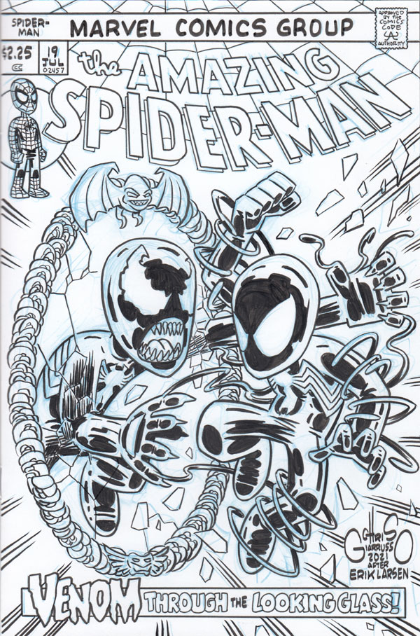 Amazing Spider-Man (vol2) #19 with 70s style logo/trade dress by Chris Giarrusso