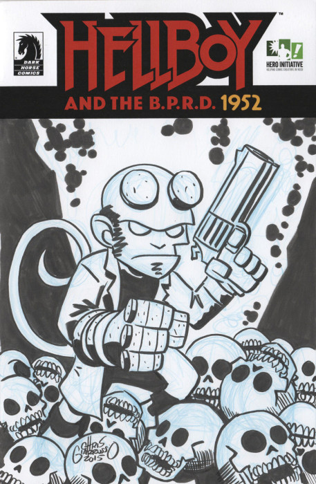 Hellboy sketch Cover by Chris Giarrusso