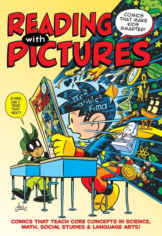 Reading with Pictures cover featuring G-Man by Chris Giarrusso